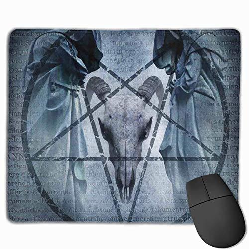 Gaming Mouse Pad Pentagramm Ziege Schädel Teufel Traum Maus Matten Anti-Rutsch-Gummibasis Mousepad Matte für Computer Laptop Bürozubehör Schreibtisch Dekor