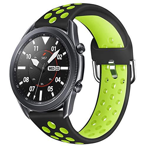 YPSNH Compatibile per Samsung Galaxy Watch 3 45mm Cinturino in Silicone Morbido Bicolore 22mm Gear S3 Cinturino di Ricambio Cinturino Sportivo per Galaxy Watch 46mm/Gear S3 Frontier/S3 Classic
