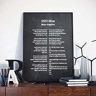 AprilLove Still I Rise, Still I Rise Poem, Still I Rise Print, Maya Angelou, Maya Angelou and Still I Rise, Angelou Poetry, Poetry, Gift for Readers,