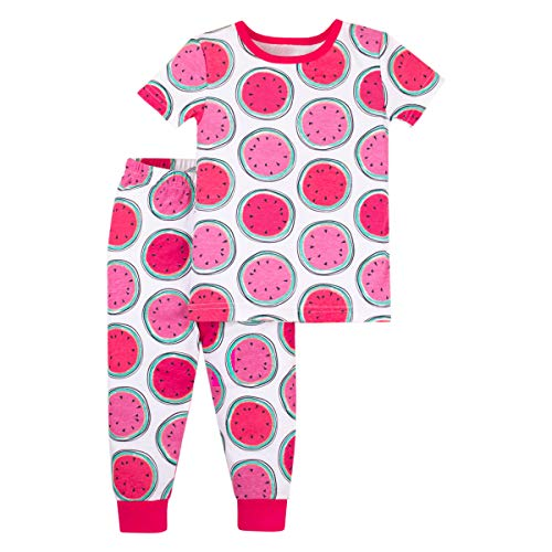 Lamaze Organic Baby Organic Baby/Toddler Girl, Boy, Unisex Tight Fit, Pink Watermelons, 12 Months