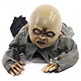 Halloween Yard Decor Scary Crawling Baby Zombie Ghost Sound Flashing Doll Halloween Props Ghost