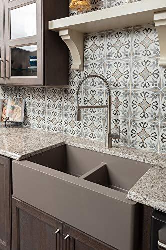 Karran QA-750-CN Quartz Farmhouse Kitchen sink, Concrete