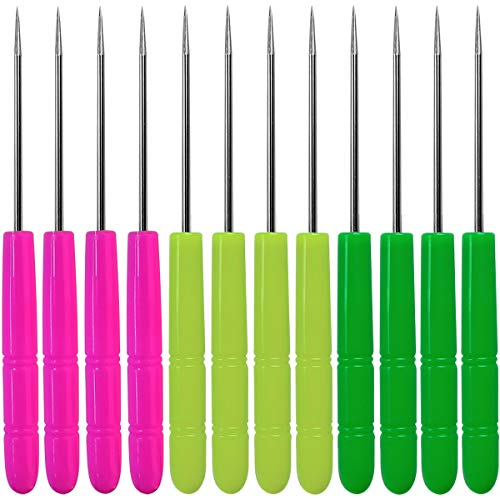 12 Pcs Sugar Stir Needle Scriber Needle Biscuit Icing Pin DIY Baking Pin Stainless Steel Pin Icing Sugarcraft Cake Decorating Needle Tool