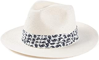 Panama Hat Sun Hats for Women Men Wide Brim Fedora Straw Summer Beach Hat UV UPF 50
