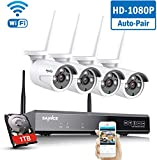 SANNCE Wireless Security System 8CH 1080P CCTV NVR and 4X 2.0MP Enhanced Signal