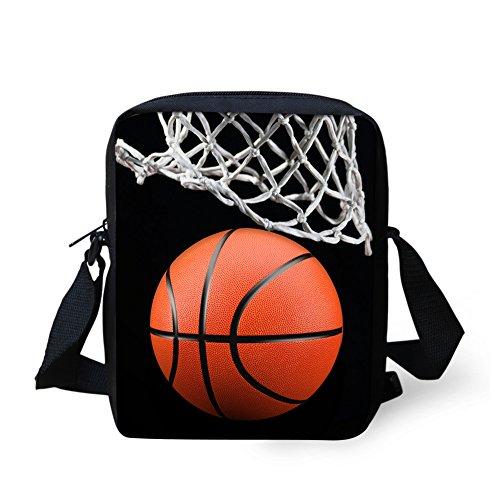 CHAQLIN, Kinder Umhängetasche Schwarz Basketball-3 S