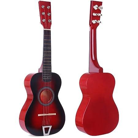 Picks Strap Mini Kids Acoustic Toy Guitar Kit Gig Bag Tuner Glitter Pink