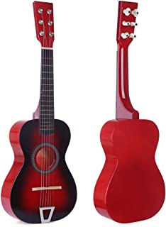 RuiyiF Kids Guitar for Girls Boys 6 Strings, 23 Inch Toddler Toy Acoustic Guitars for Kids Age 3-5 Years Educational Toy (Red)
