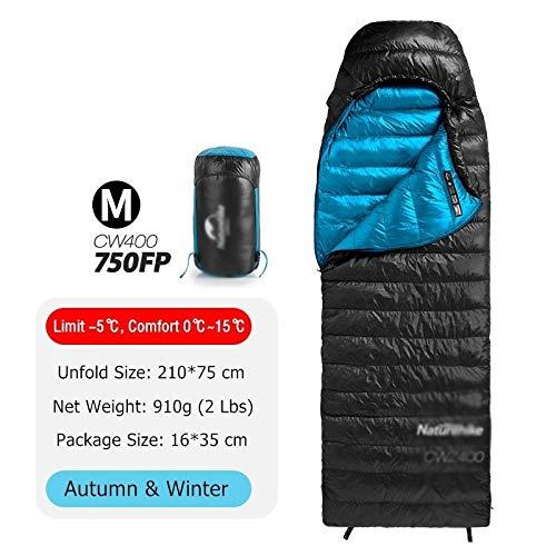 Générique Sac de Couchage Ultra léger 4 Saisons carré en Duvet d'oie pour Camping et Camping imperméable Nemo (Couleur : 750FP Noir M)