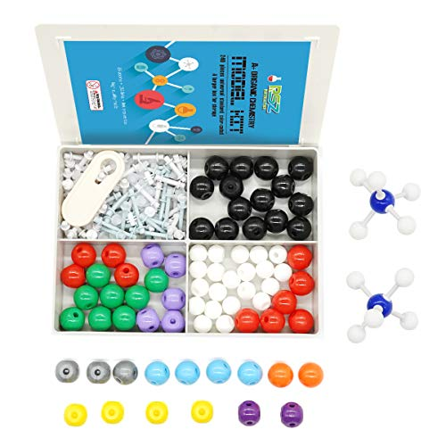 A Organic Chemistry Model Kit239 Pieces for Student and Teacher Molecular Model Set for Inorganic amp Organic Chemistry  86 Atoms amp 153 Links amp 1 Short Link Breaker