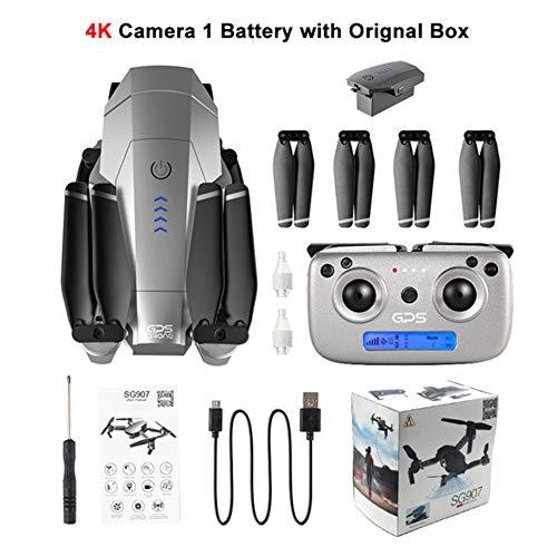 Ocamo Dron de cámara HD, dron GPS con 4 Quilates 1080 P HD Dual Cámara 5G WiFi RC cuadricópticos río Posicionamiento Mini Dron Plegable VS E520S E58