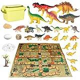 Dinosaurios Juguetes-Juego de Ajedrez Volador de Dinosaurio para Niños -Modelo Animal Dinosaurio Behemoth-Regalos interactivos Rocas Juego para Chicos Fiestas de Cumpleaños