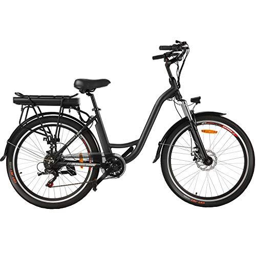 Speedrid Bicicletta elettrica da Città ebike 26'con Batteria Rimovibile agli ioni di Litio da 12,5 Ah, Bici elettrica per pendolari con Raggio di 35 miglia, Bicicletta elettrica per Adulti