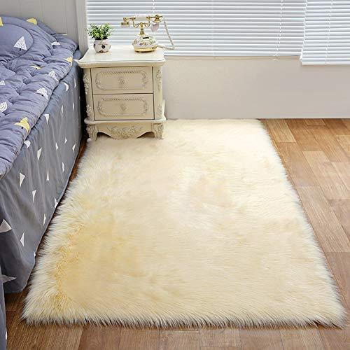 Carpets Faux Sheepskin Rug, High Pile Area Rugs Soft Ayshaggy Samt Carpets Cosy Durable rutschfest...