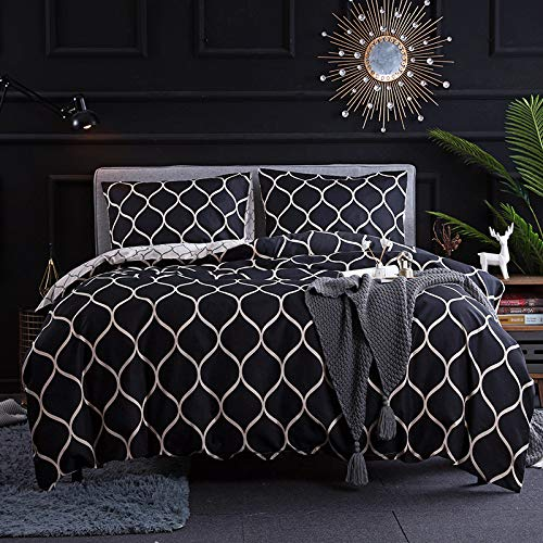 BH-JJSMGS Three-piece print, duvet and pillowcase, bedding set duvet cover A4 200 * 200