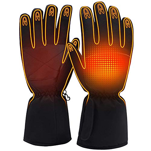 Electric Battery Heated Gloves for Women Men,Touchscreen Texting Water-resistant Thermal Heat Gloves,Battery Powered Electric Heating Ski Bike Motorcycle Warm Gloves Hand Warmers,Winter Thermo-Gloves