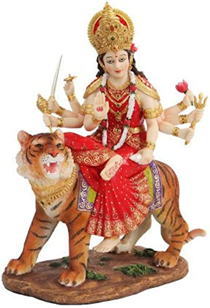 PTC 8 5 Inch Durga Mythological Indian Hindu Goddess Statue Figurine