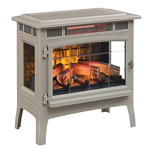 Duraflame 3D Infrared Electric Fireplace Stove with Remote Control - Portable Indoor Space Heater -...