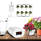 Automatic Watering System Drip Irrigation Kits, Rechargeable 9 Day Programmable Timer, USB Powered Houseplants Auto Self Indoor Plant Watering Devices for Christmas Tree 8 Potted Outdoor Plants