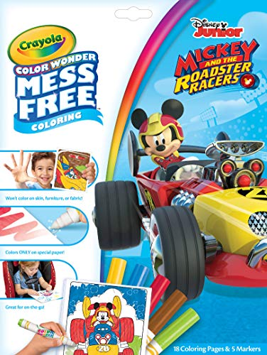 Crayola Mess Free Mickey Mouse Roadster Racers Color Wonder Pad and Markers