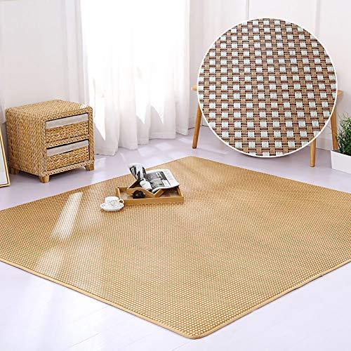 Rattan Sommermatte Groß Bodenmatte,Modernes Design Nicht-Slip Teppich,Japanischer...