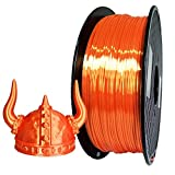 Silk Orange PLA Filament 1.75mm 3D Printer Filament 1KG 2.2 LBS Spool 3D Printing Material CC3D Shine Silky Shiny Metallic Metal Gold Silver Copper Bronze PLA Filament