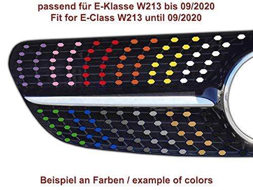 Diamantgrill Folien Sticker für Mercedes E-Klasse W213 C238 A238 AMG Grillaufkleber (Schwarz)