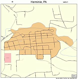 Large Street & Road Map of Herminie, Pennsylvania PA - Printed poster size wall atlas of your home town