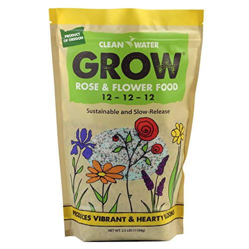 Clean Water Grow Rose & Flower Food 2.5 lb. Slow Release Natural Environmentally Friendly Fertilizer...
