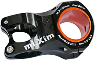 Bike stem Mountain Bike 31.8/50mm Handle Hollow Aluminum Short Riser for BMX Mountain Bike Road Bike for Mountain Bike Road Bike BMX MTB (Color : Black, Size : 28.6x31.8x50MM)