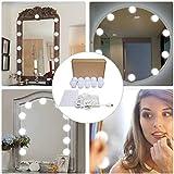 Lumière de Miroir,Hollywood Lumière de Miroir 10 LEDs,Lampe de maquillage,kit de...