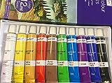 VfmOnline 12ML Artists Paint Tubes Set - 10 Colours (Watercolour Paints)