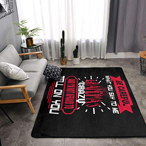 shenguang My Grandma's Crazy Super Soft Personalized Carpet Decorator Floor Rug and Carpets 63 X 48 Inch Game Room Floor Carpet
