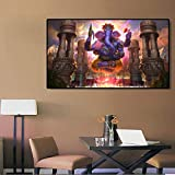 N / A Rahmenlose Malerei Indischer Gott Ganesha Wandkunst Leinwand HauptdekorationZGQ6483 40x70cm