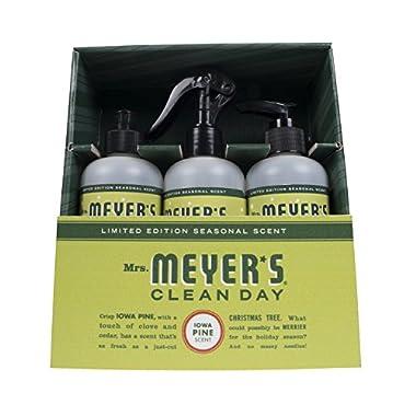Mrs. Meyer's Clean Day Kitchen Basics Set, Iowa Pine, 3 ct: Dish Soap (8 fl oz), Hand Soap (7.75 fl oz), Multi-Surface Everyday Cleaner (8 fl oz)