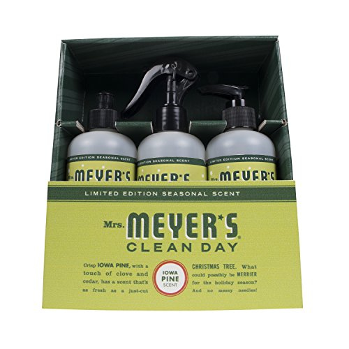 Mrs. Meyer's Clean Day Kitchen Basics Set, Includes: Multi-Surface Cleaner, Hand Soap, Dish Soap, Iowa Pine Scent, 3 Count Pack