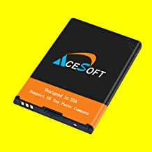 AceSoft High Power Extended Slim 1800mAh Excellent Replacement Battery for ZTE Cymbal-C LTE Z233VL Straight Talk/Tracfone/Net10/Total