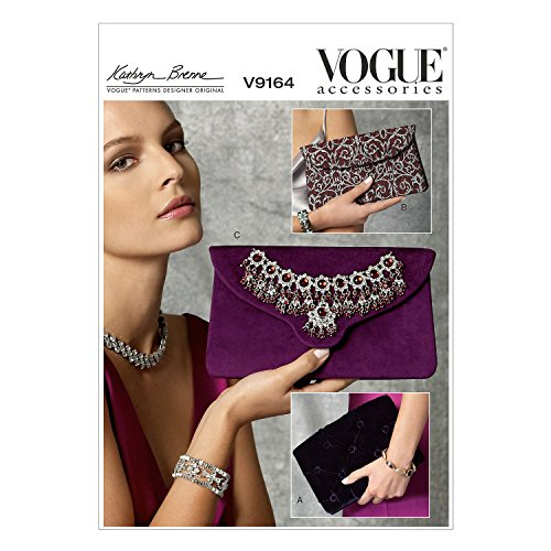 Vogue Mustern 9164OS Clutch Schnittmuster, Mehrfarbig