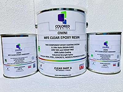 Colored Epoxies 1038 Clear 1.5 Gallon Kit Resin and Hardener