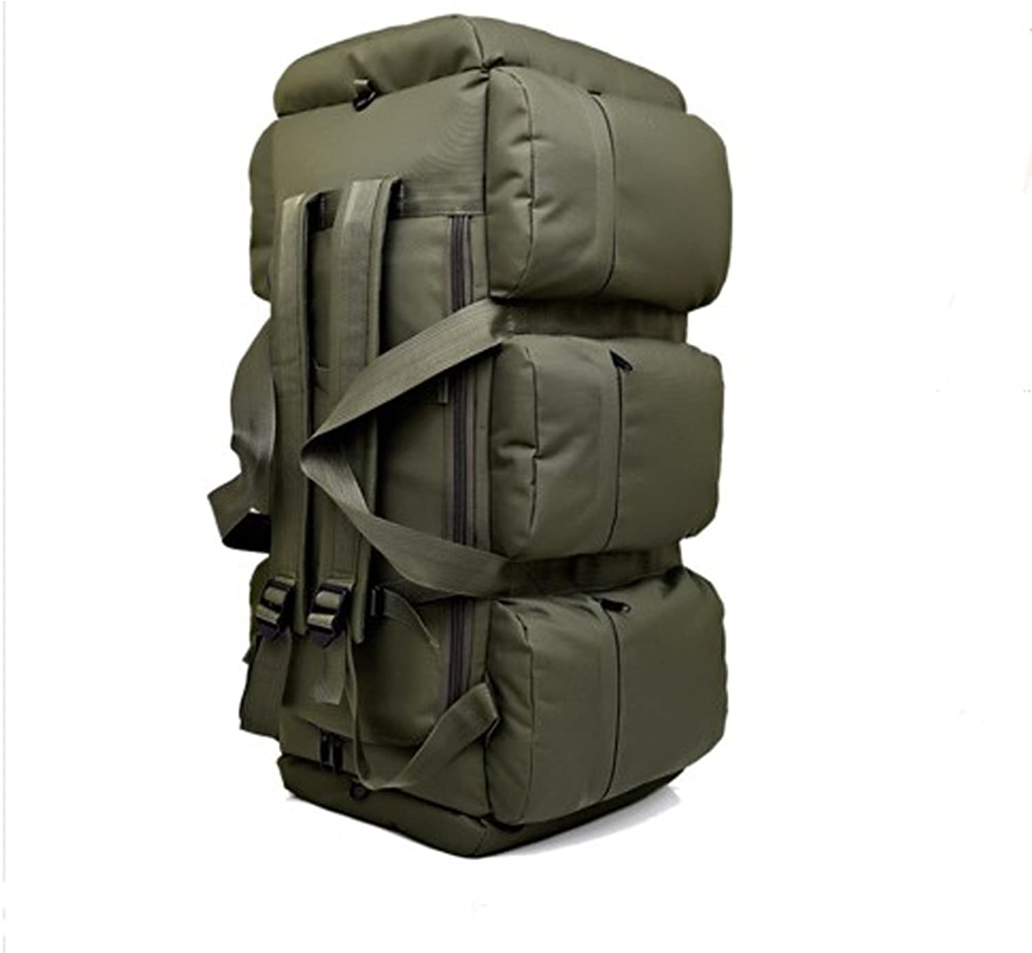 ASdf Outdoor Large Capacity Hiking Climbing Backpacks Bag Army Camouflage Mountaineering Backpack 90L (color   Army Green)