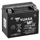 Batteria moto Yuasa YTX12-BS - Senza manutenzione - 12 V 10 Ah - Dimensioni: 150 x 87 x 131 mm compatibile con Honda FL350R Odyssey 350 1985