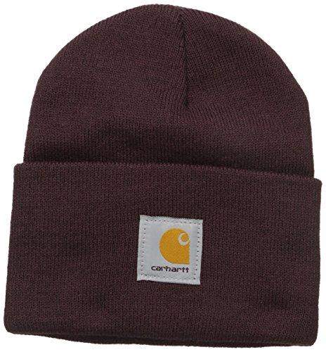 Carhartt Unisex-Adult Watch Hat Beanie Hat, Rot (Deep Wine 01), Einheitsgröße