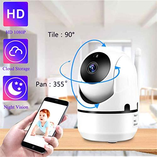 Wireless IP-Kamera, IP-Home-Security-Kamera 360, Nachtsichtkamera, Babyphone, Wireless-Überwachung Mini-WiFi,...