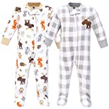 Hudson Baby Unisex Baby Fleece Sleep and Play, Woodland, 6-9 Months
