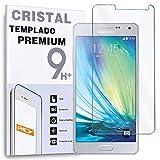 REY Protector de Pantalla para Samsung Galaxy A5 Cristal Vidrio Templado Premium