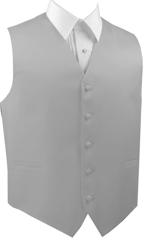 Italian Design Men's Formal Tuxedo Vest in Platinum