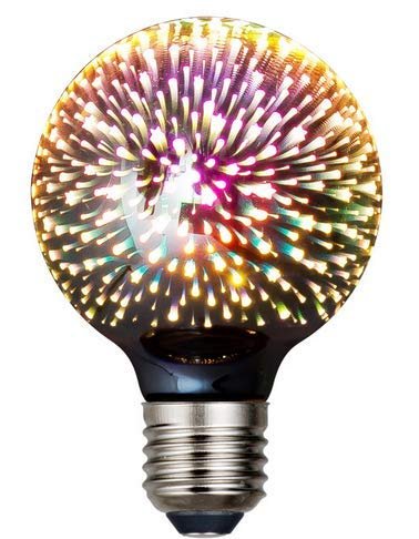 LED G80 Classic 3D Bombilla Firework Edison, estilo vintage, color ámbar, 2700...