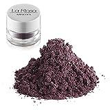 La Rosa maquillaje mineral nº 14 fluorite sombra color berenjena, morado tirando a marrón, de tono cálido