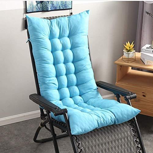 Thicken Cojines para silla mecedora Cojín antideslizante para asiento con respaldo alto,cojín de una pieza para silla de patio,cojín de repuesto para silla de salón,para jardín,azul cielo,100x40 cm (3