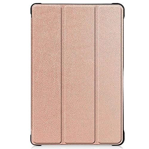 para Samsung Galaxy Tab A7 2020 10 4 SM-T500 SM-T505 T500 T505 Tablet Funda de Funda de Pliegue Caja de Cuero Flip-Oro